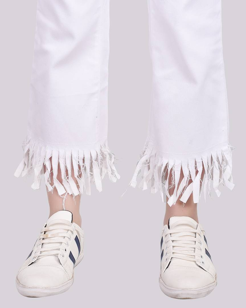White Denim Jeans  For Women's - Zoopershop.com