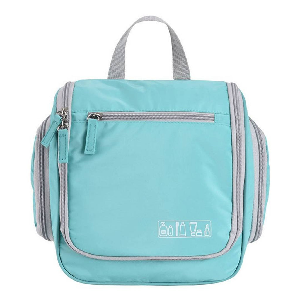 Multifunctional Toiletry Travel Bag for Men and Women Heavy Duty Sturdy Hook Shower Bag - Mint Color