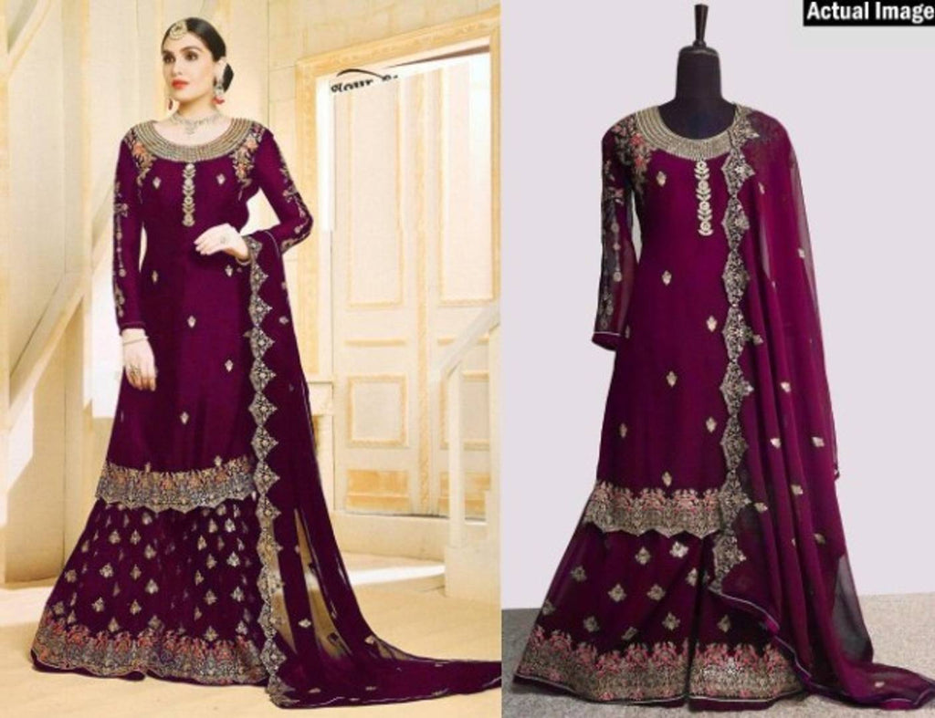 Alluring Faux Georgette Semi Stitched Salwar Suit Set