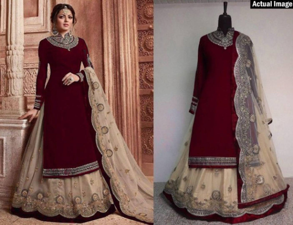 Women's Beautiful Georgette with Embroidery Work Dress Material