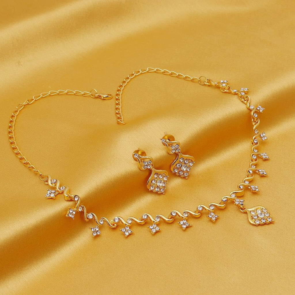 Delightful Gold Plated Necklace Set For Women