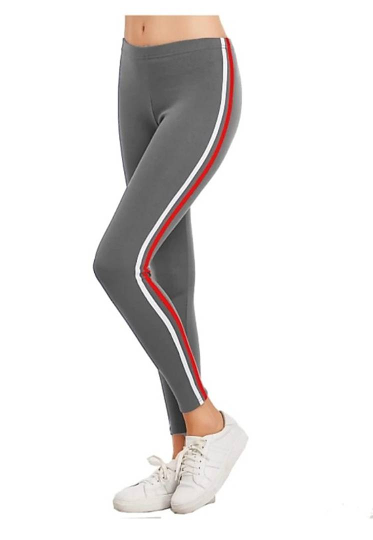 Women's/Girl's Side Less Rib Pattern Ankle Length Sport Wear Jeggings/Trouser/Pants - (A.S Creation)