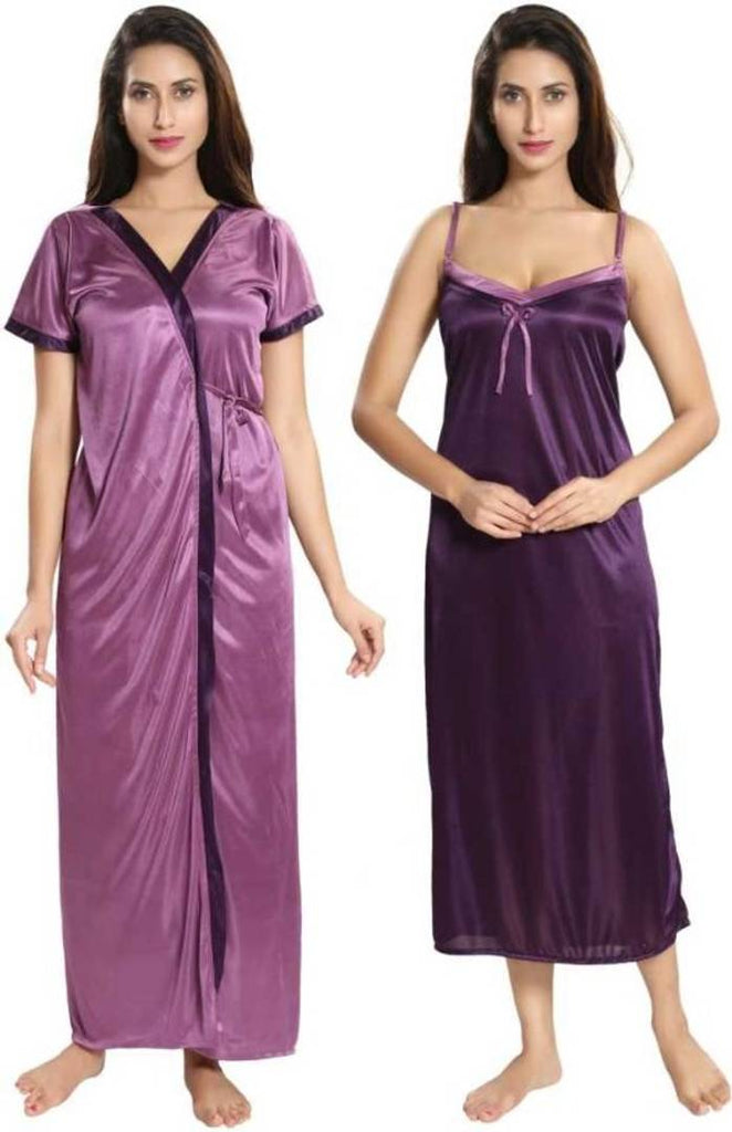 Fashionable 2-IN-1 Night Gown With Robes