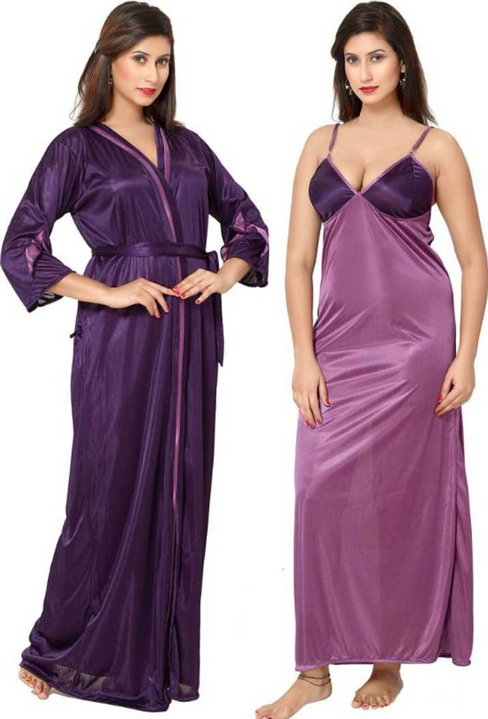 Trendy 2-IN-1 Night Gown With Robes