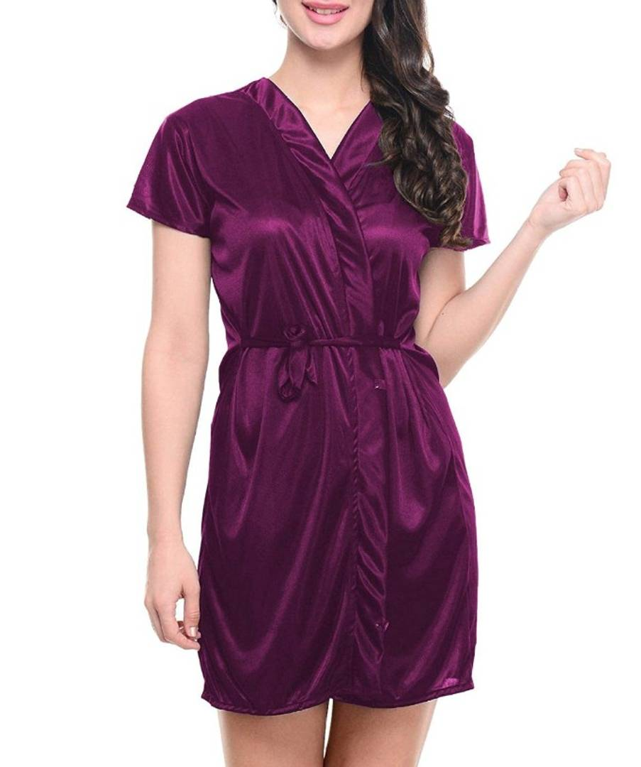 Trendy Satin Night Robe