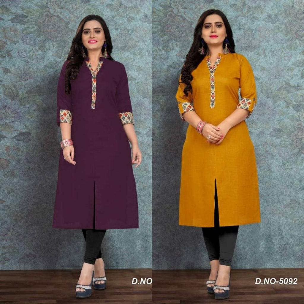 New Plus Size Cotton Kurtis Combo