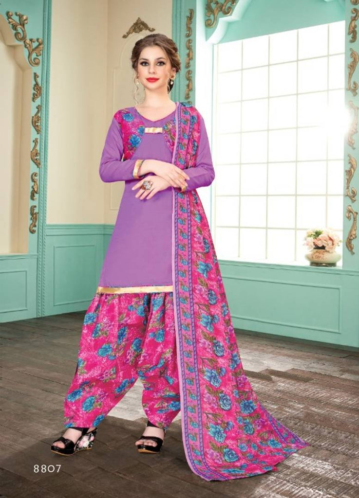Stylish Cotton Dress Material With Dupatta