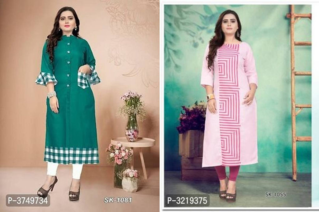 Stylish Cotton Printed Women's Kurtis (Combo Pack)