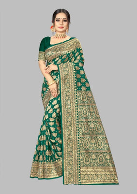 Art Silk Jacquard Banarasi Saree With Blouse Piece