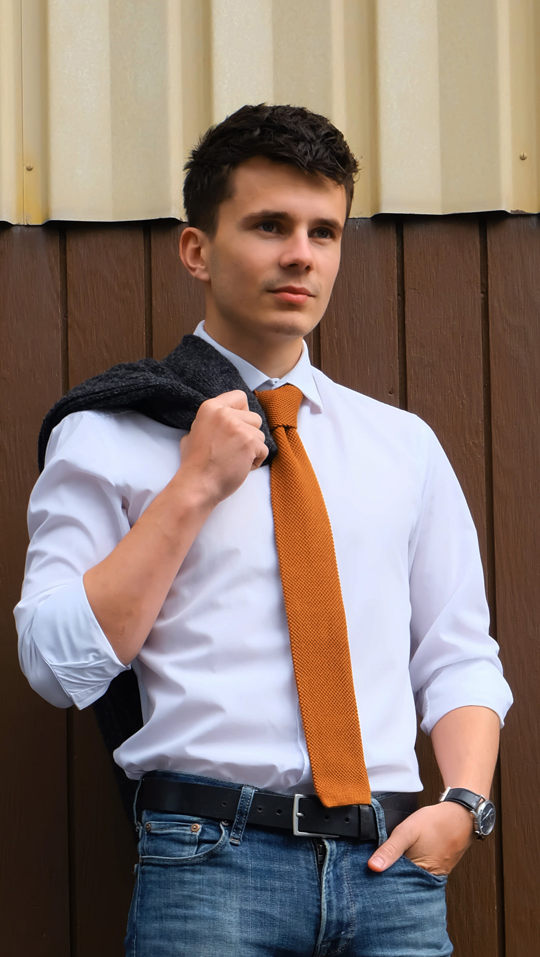 Straight Knit Necktie