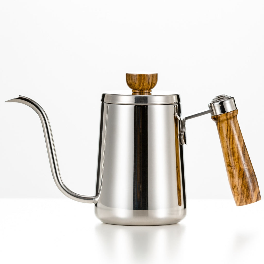 Seluna Wooden Handle Stainless Steel Gooseneck Kettle Hand Drip Coffee Pot Pour Over Coffee Tea Pot Barista Coffee Maker Brewer
