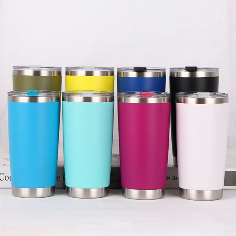 20oZ 600ml Metal Stainless Tumbler Vacuum Thermos Insulation Travel Mug Cup Coffee Tumbler Double Wall Insulated Rambler Hot New