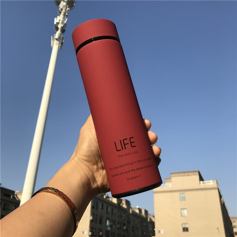 500ML Hot Water Thermos Tea Vacuum Flask With Filter Stainless Steel 304 Sport Thermal Cup Coffee Mug Tea Bottle Office Business