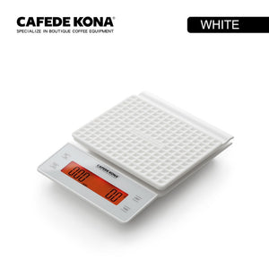 CAFEDE KONA Commercial Scale hand brew coffee precision sensors kitchen food scale with timer include Waterproof silicone pad