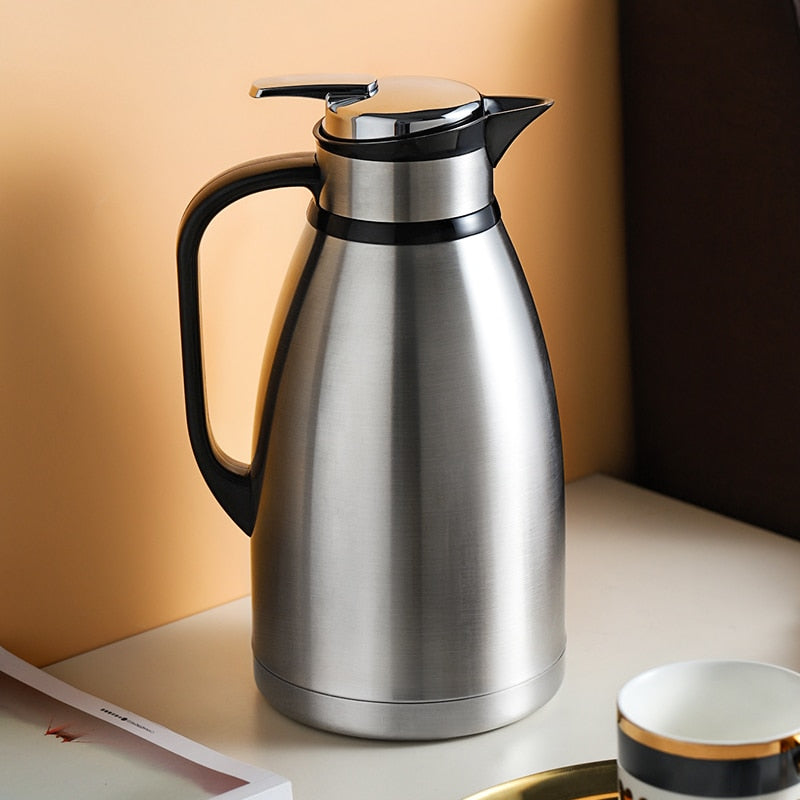 Thermos Pot Large Capacity 304 Stainless Steel Boiling Water Bottle Vacuum Flask Water Coffee Tea Pot For Home Outdoor 2.5L 3L