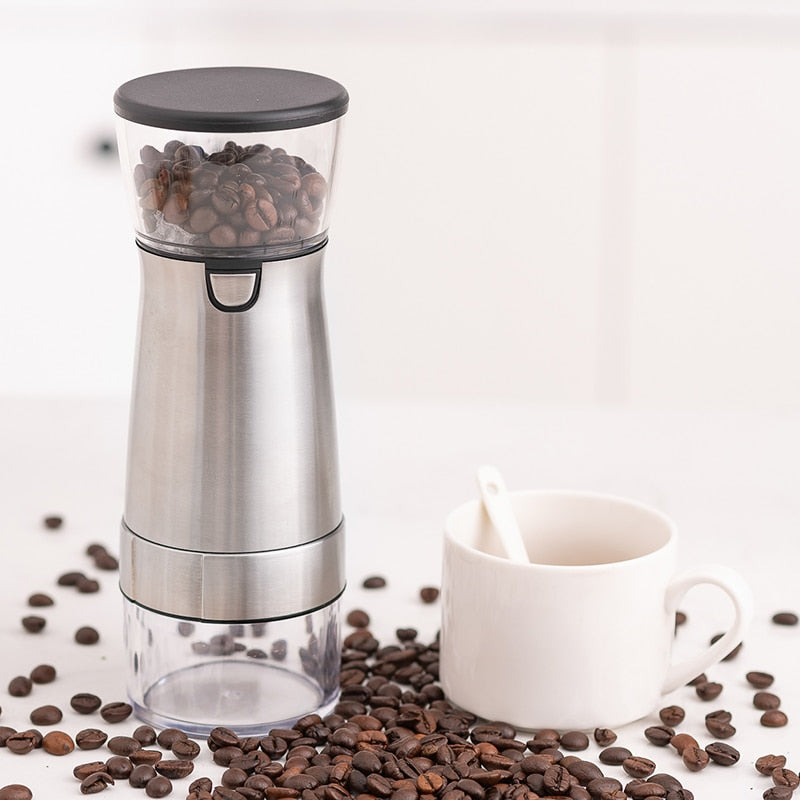 Electric Coffee Grinder Coffee Bean Mill USB Coffee Bean Grinding Pepper Grinding Machine Portable Kitchen Tools Large Cup Tea