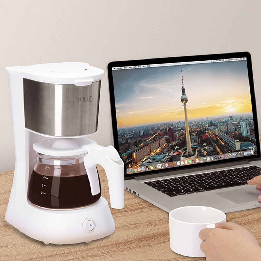 652ml Coffee Machine Espresso Maker With Glass Kettle Coffee Powder Filter Anti-Drip Insulation Teapot From Youpin high quality