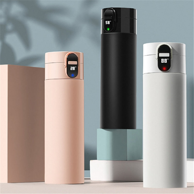 OLED Screen Touch 320ml Insulated Cup OLED Temperature Display Water Bottle USB Rechargeable IPX4 Waterproof Vacuum for Winter