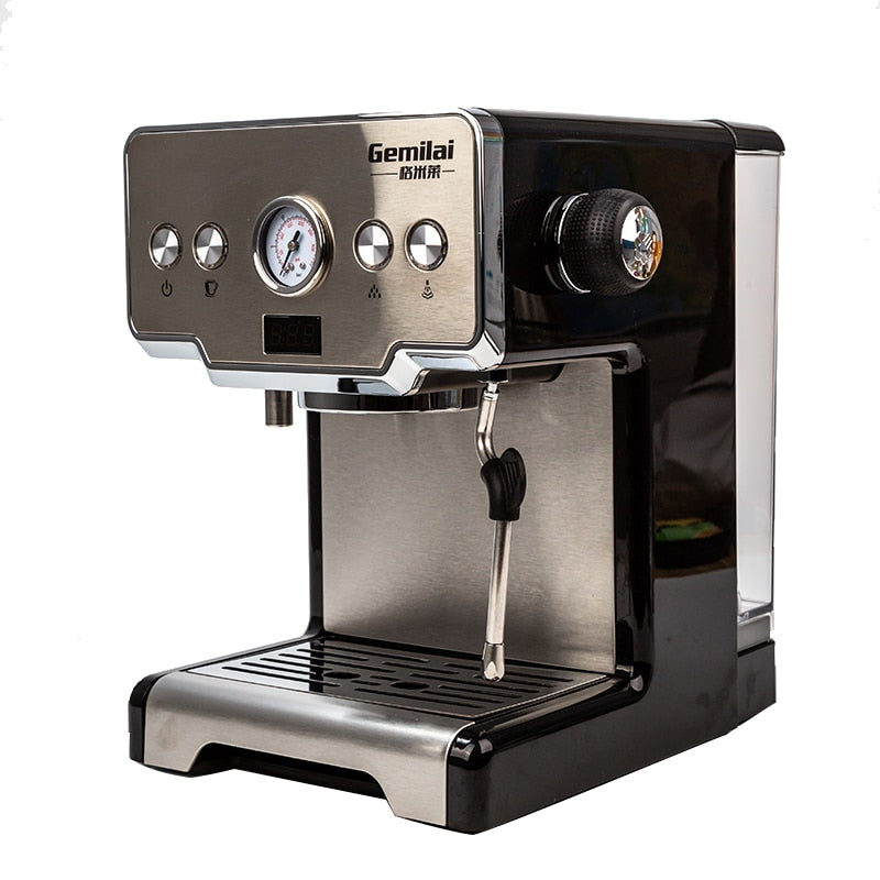 Coffee Maker Italian Top Espresso Machine Cappuccino Coffee Electric Foam Coffee Machine Stainless Steel Stove Coffee 220V