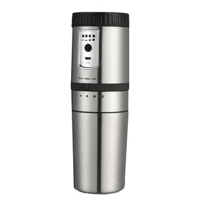 Portable Coffee Maker, Mini Semi-Automatic Coffee Machine Compact Coffee Grinding Equipment Stainless Electric Chargeable Espres