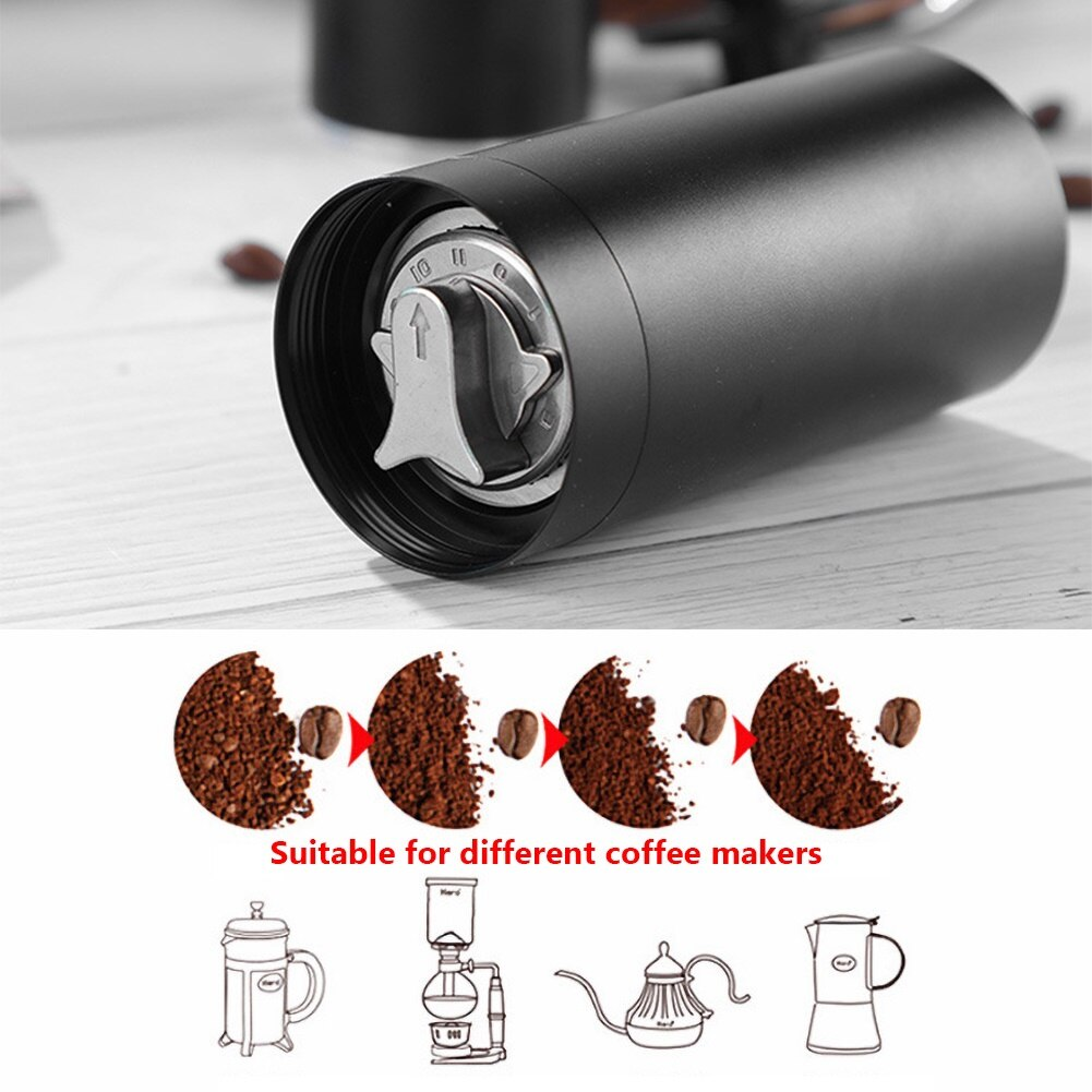 20g Portable Stainless Steel Grinding Core Cylinder Manual Handmade Coffee Beans Grinder Kitchen Tool Grinders