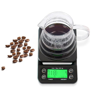 Electronic Coffee Digital Weight Scale Timer Portable Kitchen Backlight Measuring Instruments for Medicine Diamond Gold