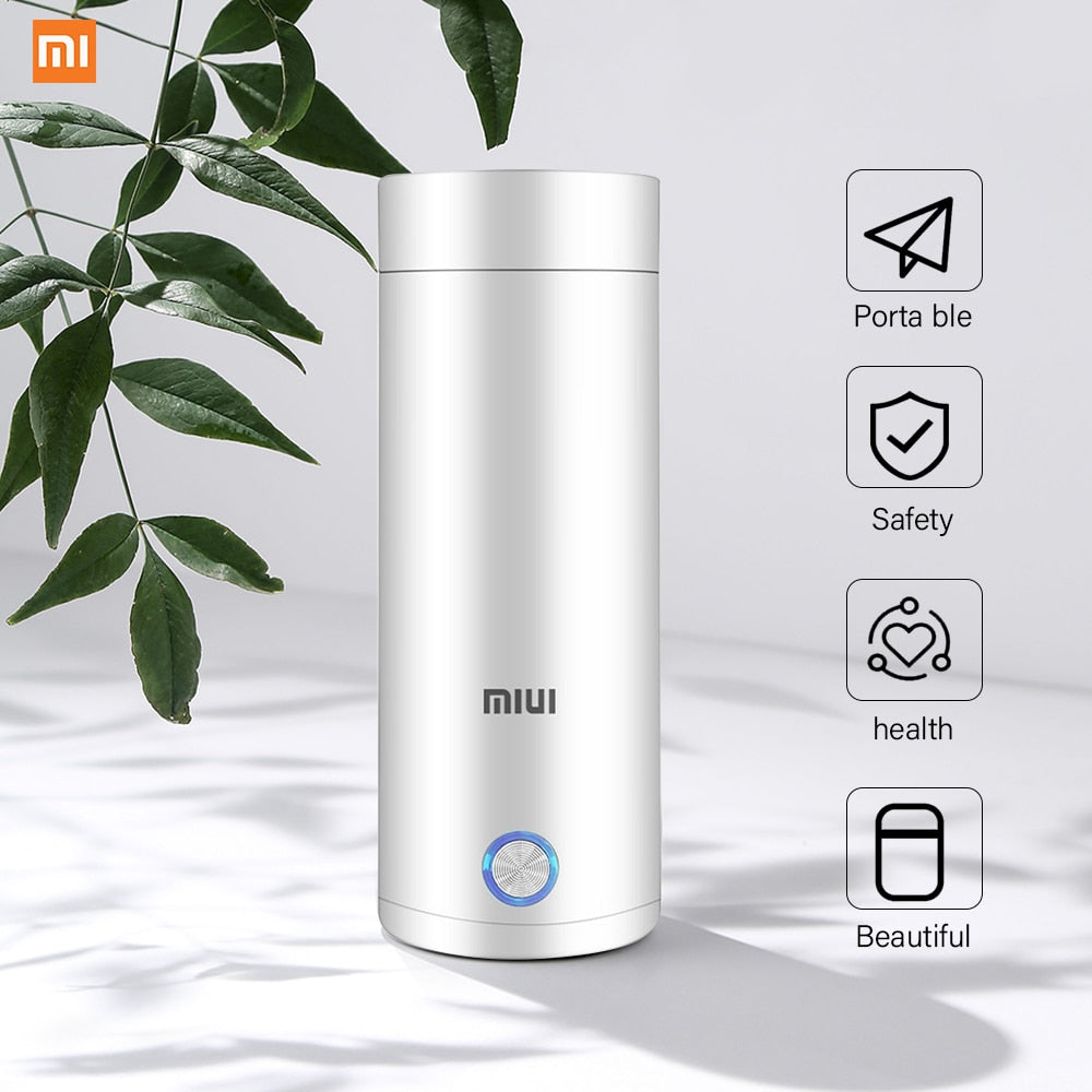 MIUI Portable Electric Kettle Thermal Cup Coffee Travel Water Boiler Temperature Control Smart Water Kettle