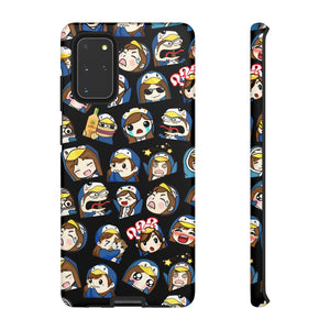 Emotes Black Phone case - 15 sizes