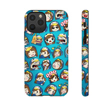 Load image into Gallery viewer, Emotes Blue Phone case - 15 sizes