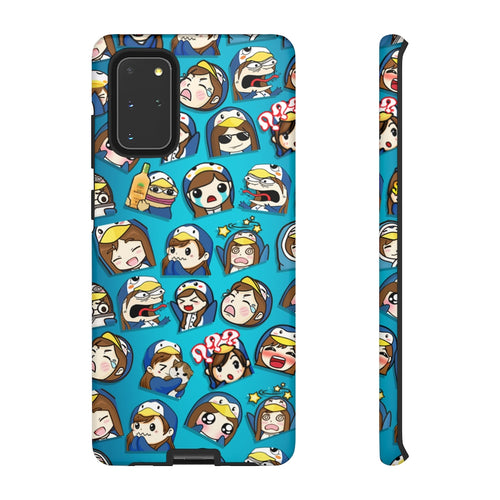 Emotes Blue Phone case - 15 sizes