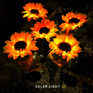 2020 SOLAR SUNFLOWER OUTDOOR GARDEN LIGHT-BUY 8 FREE SHIPPING