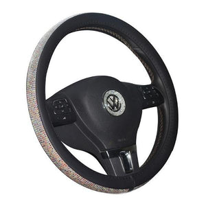 50% OFF - Crystal steering wheel cover