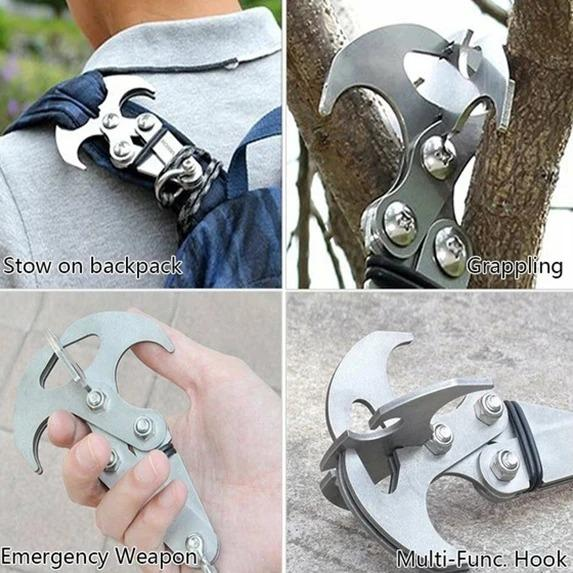 🔥50% OFF-STAINLESS STEEL SURVIVAL FOLDING GRAVITY HOOK🔥
