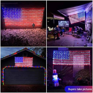 [50% discount]American FLAG 420 LED STRING lamp-Large American FLAG outdoor lamp-BUY 2 FREE SHIPPING