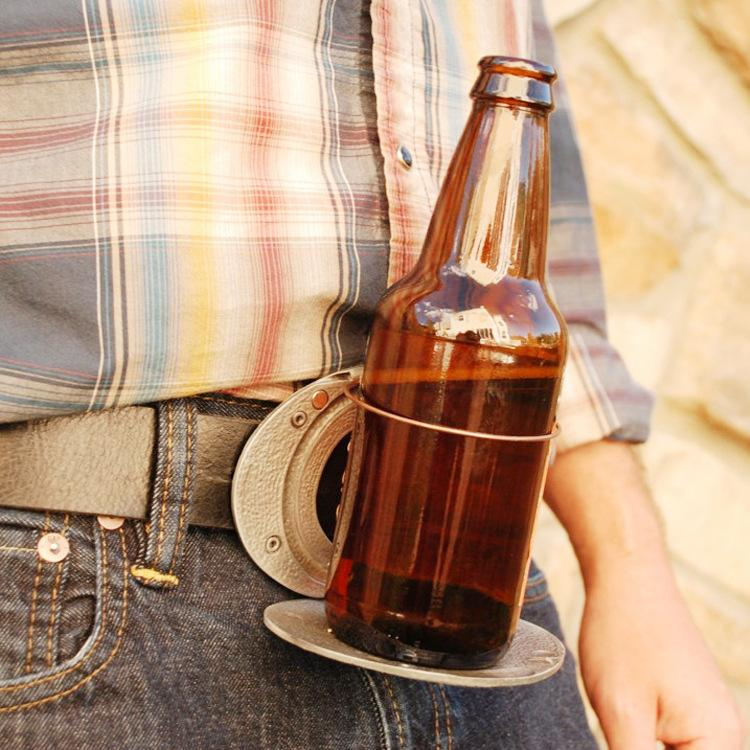 🔥Hot Fashion Newest Beer Buckle Holds A Bottle Or Can Handsfree🍺