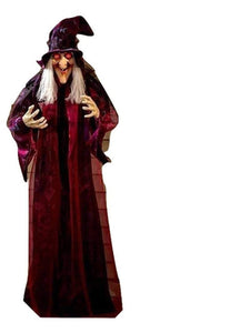 🔥🔥Halloween 50% Promotion - Talking Witch Halloween Haunted House Prop Decor