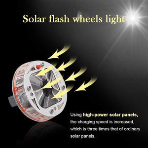 4pcs Solar Car Tire Wheel Lights with Wireless Remote Control