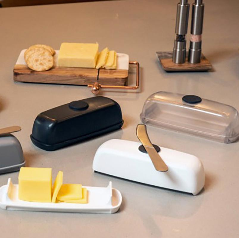 🔥Butter Hub Butter Dish with Lid and Knife-Magnetic Butter Keeper🔥Buy 2 Free Shipping