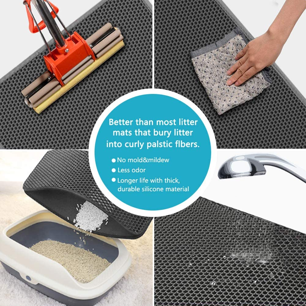 🔥2020 HOT SALE-The Ultimate Waterproof Cat Litter Mat🐾