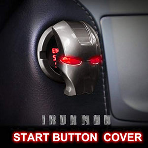 🦾Iron Hero Style Car Engine Start Button Cover