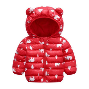 (⏰Buy 2 free shipping!)Baby Boys Girls Winter Coats Hoods Light Puffer Down Jacket Outwear