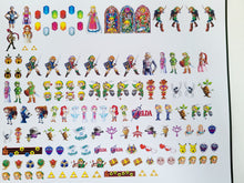 Load image into Gallery viewer, Legend of Zelda Nail Decals Water Slide Nintendo Nail Art