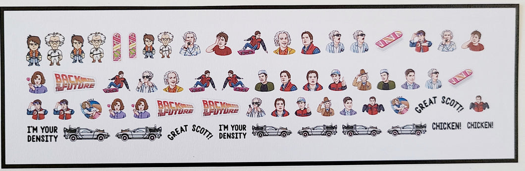 Back to the future nail decals