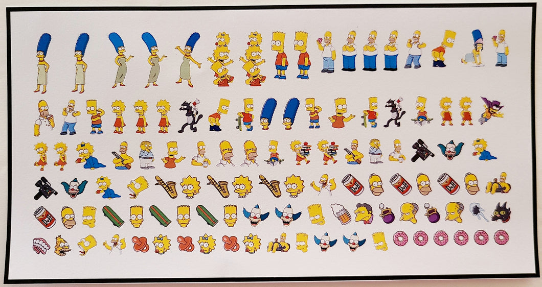The Simpsons Nail Decals Water Slide Nail Art