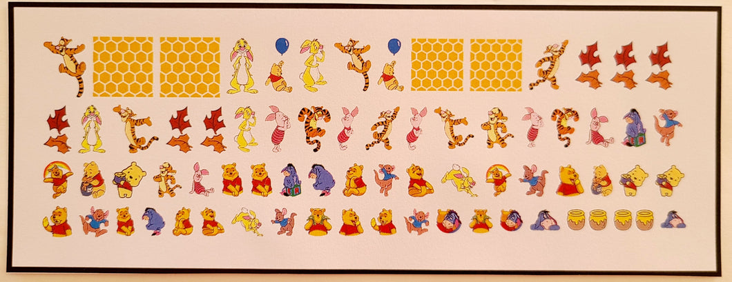 Winnie the Pooh Nail Decals Water Slide Nail Art