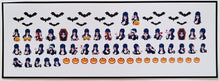 Load image into Gallery viewer, Elvira Nail Decals Water Slide Halloween Nail Art