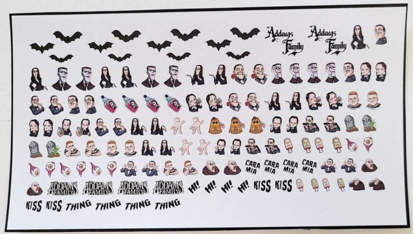 The Addams Family Nail Decals