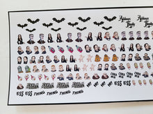 Load image into Gallery viewer, Addams Family Nail Decals Water Slide Morticia Gomez Wednesday Addams