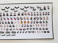 Load image into Gallery viewer, Addams Family Nail Stickers