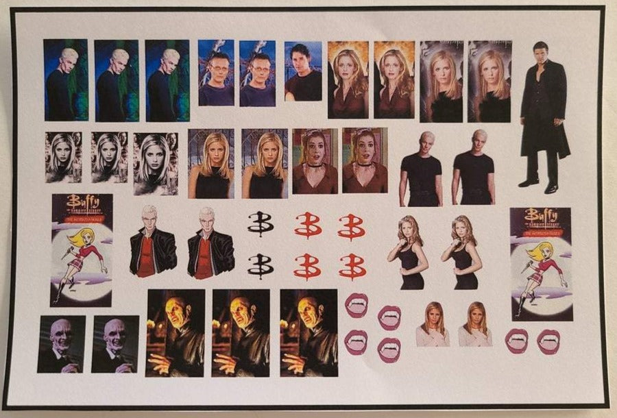 Buffy Nail Decals Water Slide Nail Wraps Nail Art